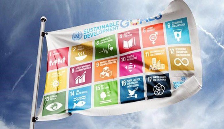 (Nederlands) Vlaggen voor het vijfjarig bestaan van de Sustainable Development Goals